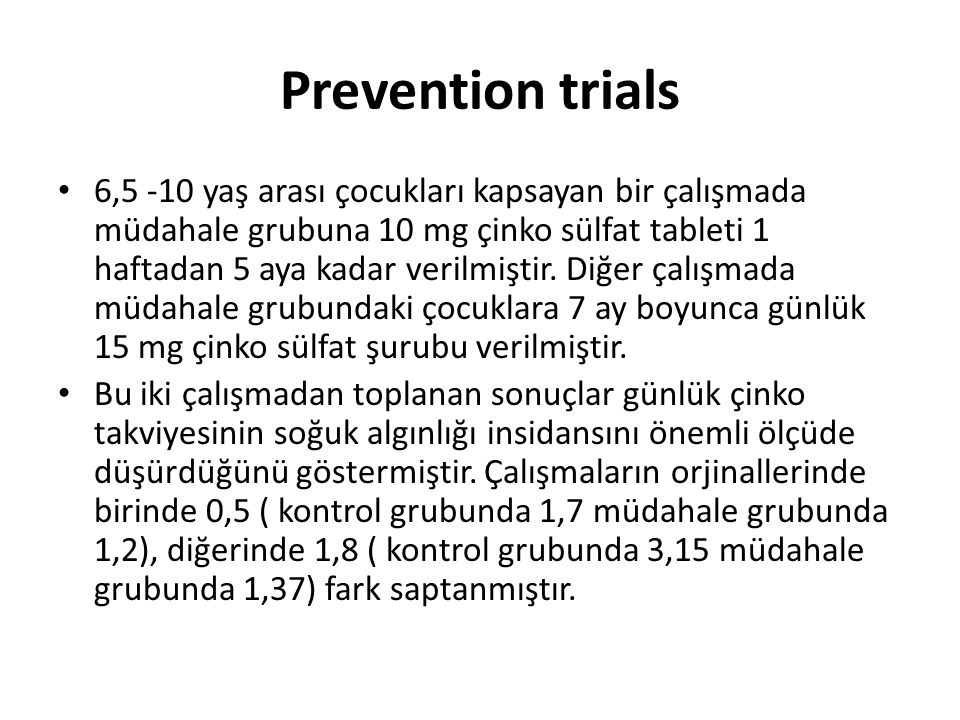 Prevention trials