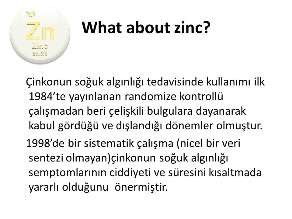 What about zinc