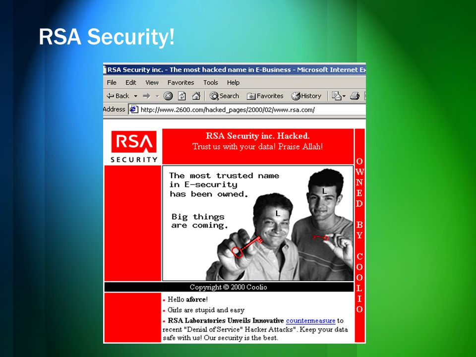 RSA Security!