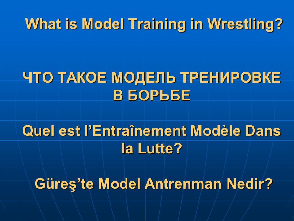 What is Model Training in Wrestling