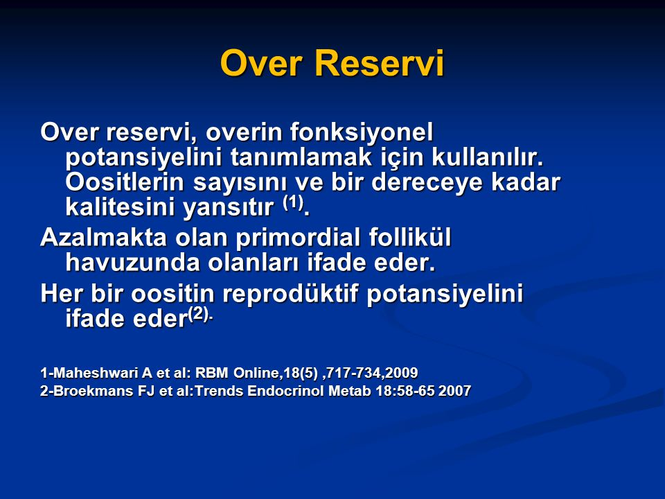 Over Reservi