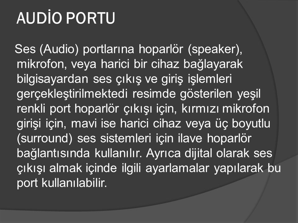 AUDİO PORTU
