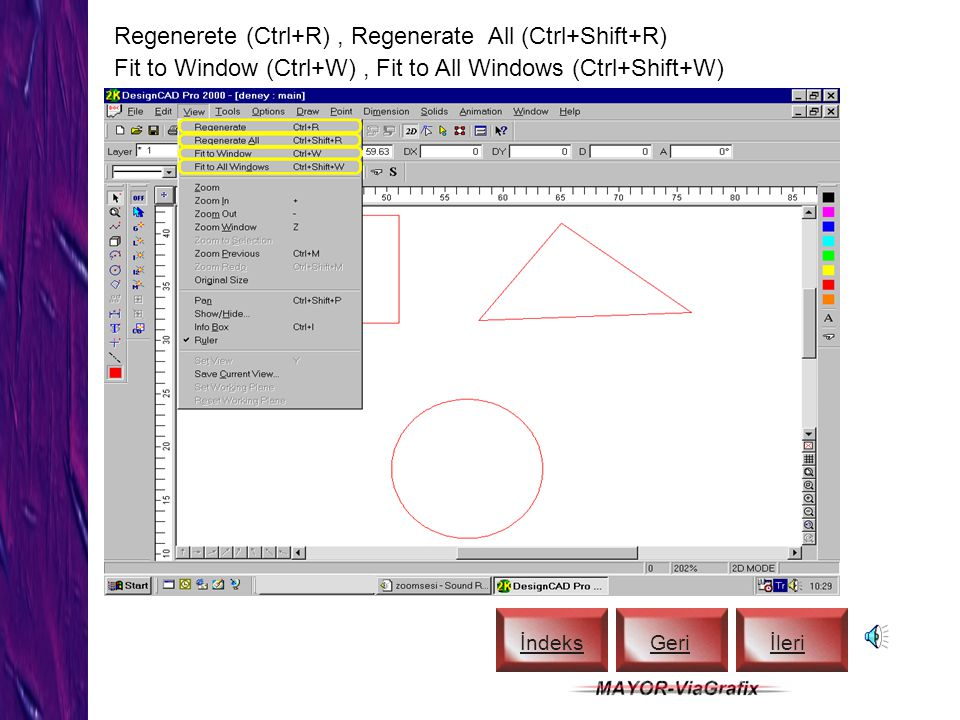 Regenerete (Ctrl+R) , Regenerate All (Ctrl+Shift+R)