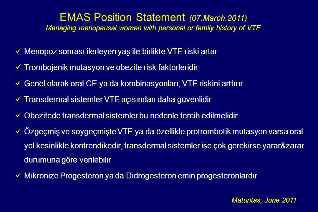 EMAS Position Statement (07.March.2011)