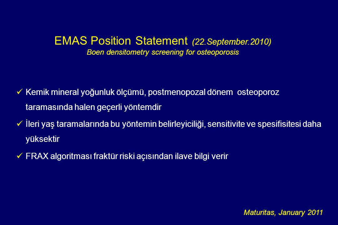 EMAS Position Statement (22.September.2010)