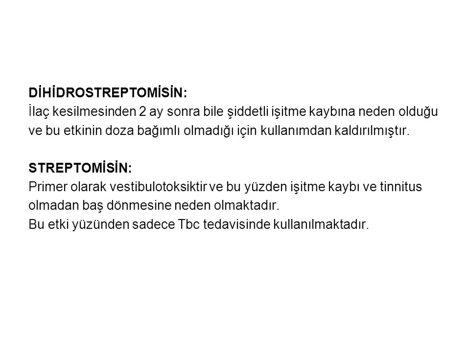 DİHİDROSTREPTOMİSİN: