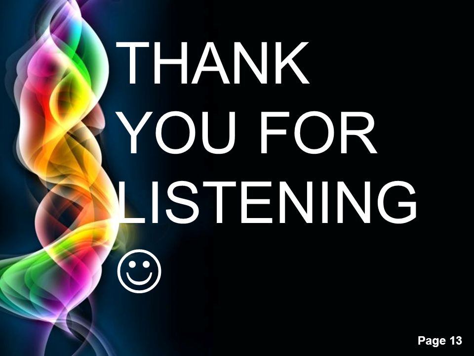 THANK YOU FOR LISTENING 