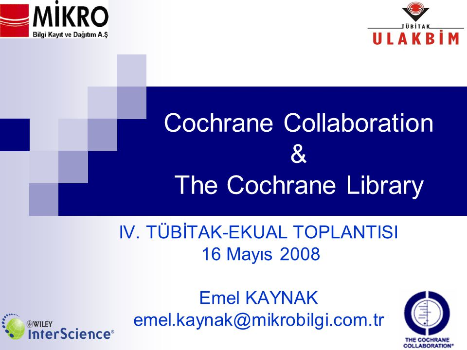 Cochrane Collaboration & The Cochrane Library