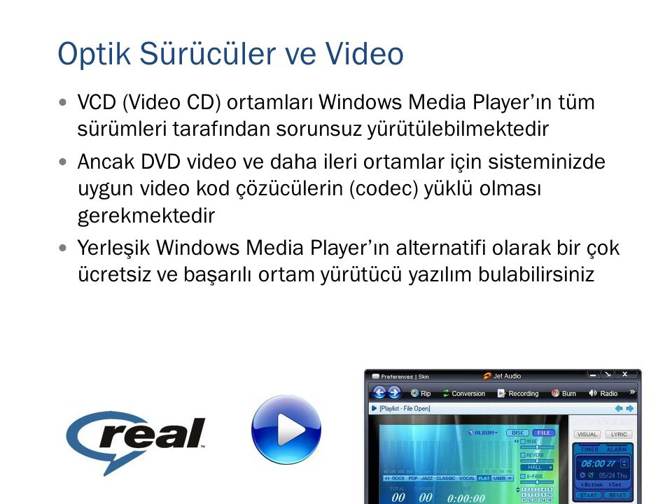 Optik Sürücüler ve Video