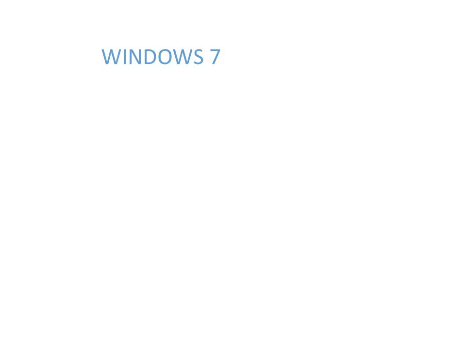 WINDOWS 7 EYLÜL 2012