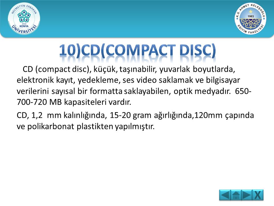 10)CD(Compact Disc)