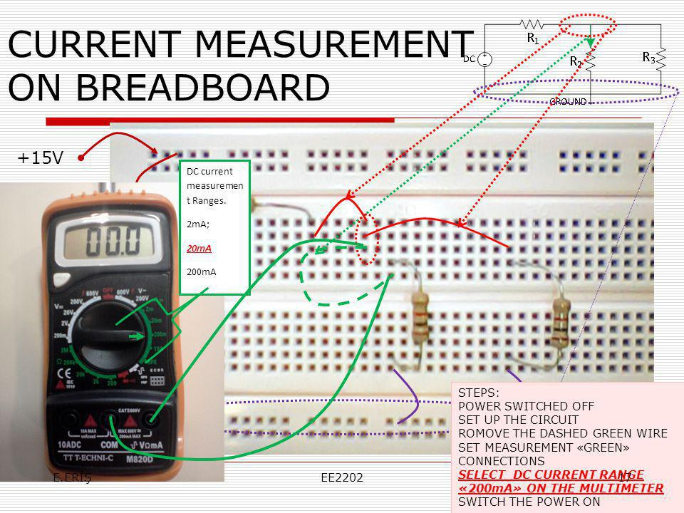 CURRENT MEASUREMENT ON BREADBOARD