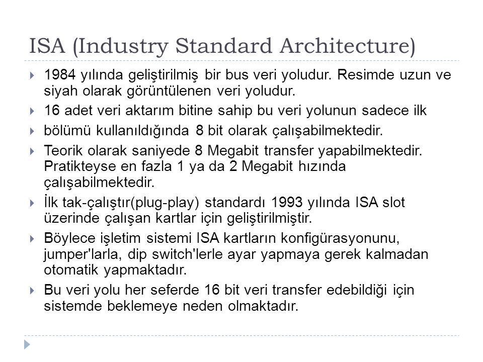 ISA (Industry Standard Architecture)