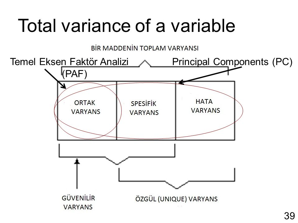 Total variance of a variable
