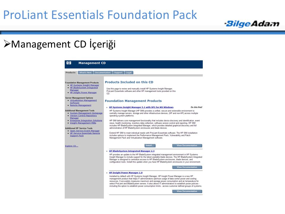 ProLiant Essentials Foundation Pack