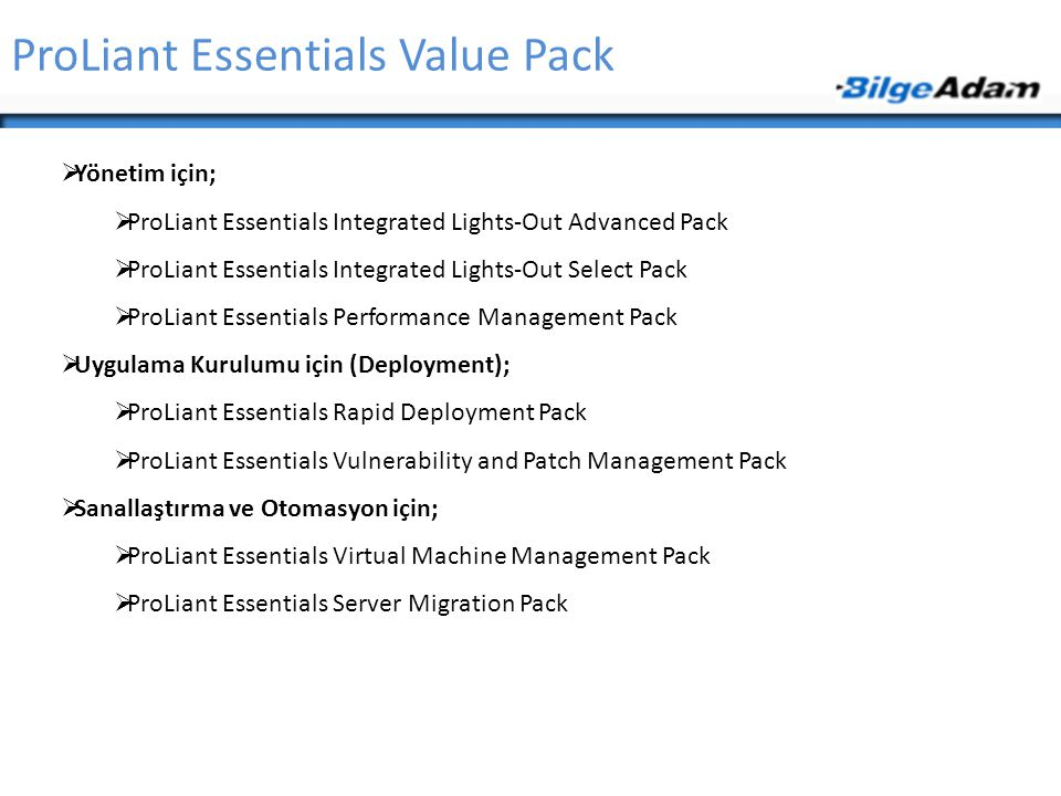 ProLiant Essentials Value Pack