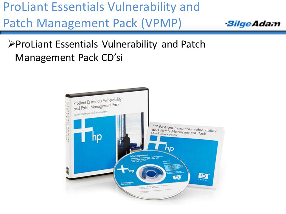 ProLiant Essentials Vulnerability and Patch Management Pack (VPMP)