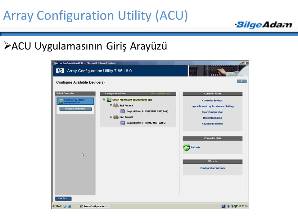 Array Configuration Utility (ACU)