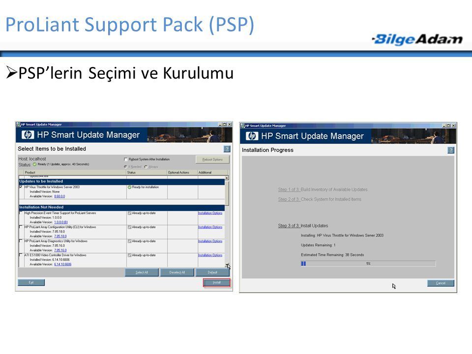 ProLiant Support Pack (PSP)