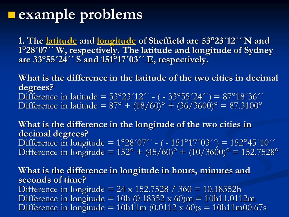 example problems 1.