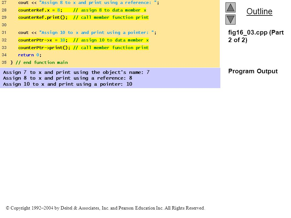 fig16_03.cpp (Part 2 of 2) Program Output