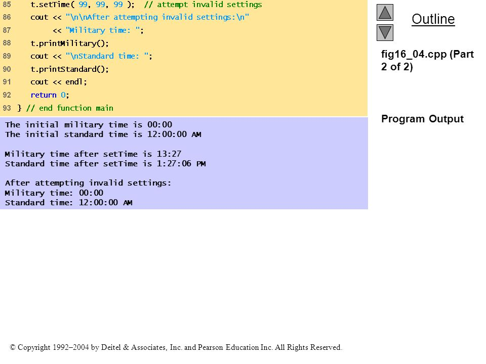 fig16_04.cpp (Part 2 of 2) Program Output