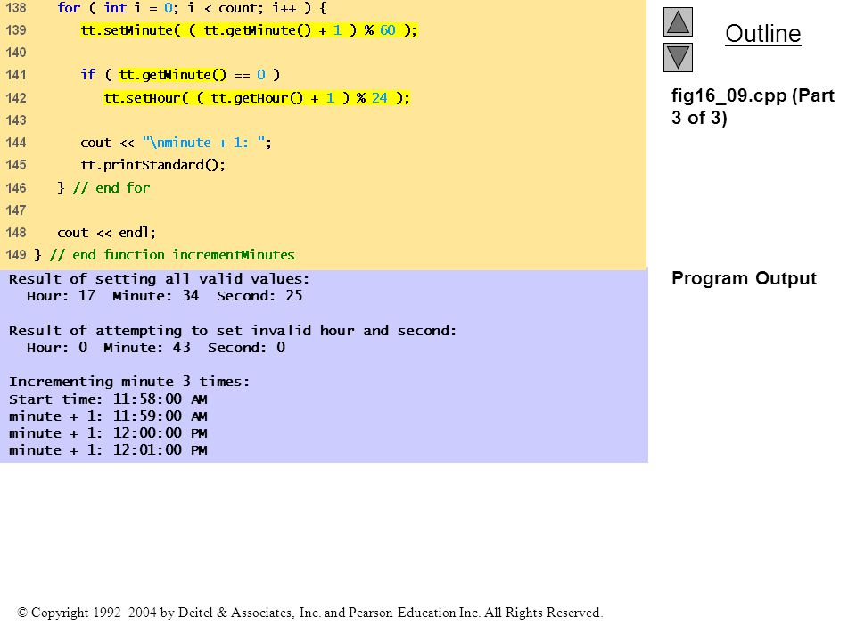 fig16_09.cpp (Part 3 of 3) Program Output