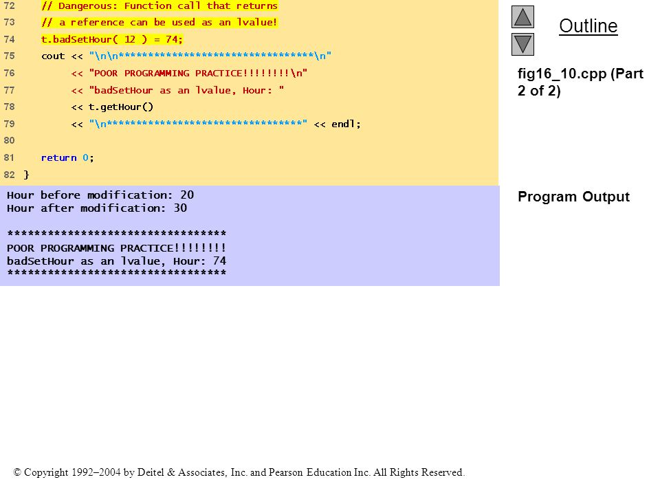 fig16_10.cpp (Part 2 of 2) Program Output