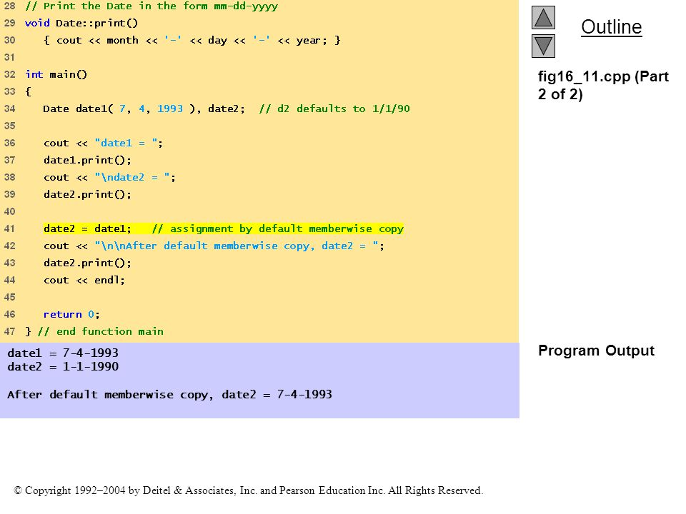 fig16_11.cpp (Part 2 of 2) Program Output