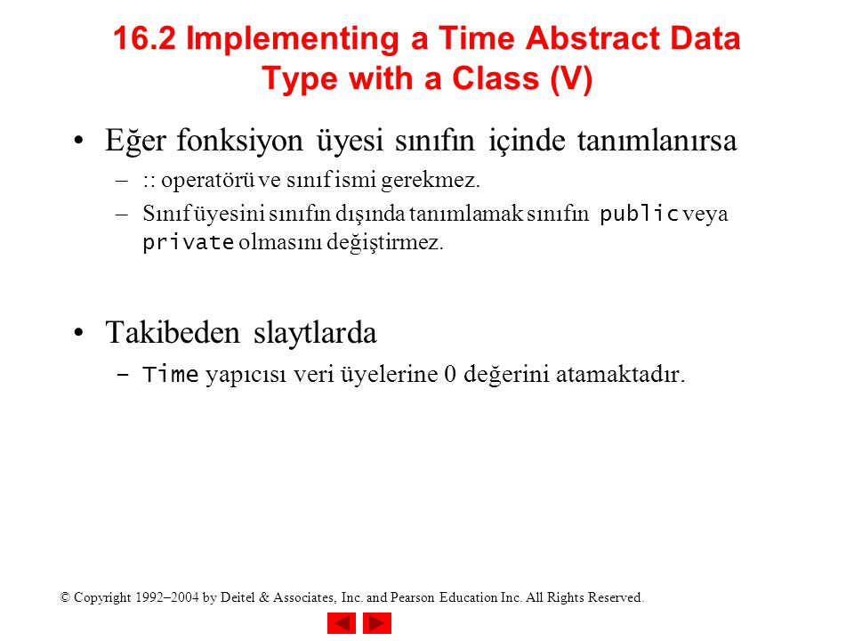 16.2 Implementing a Time Abstract Data Type with a Class (V)