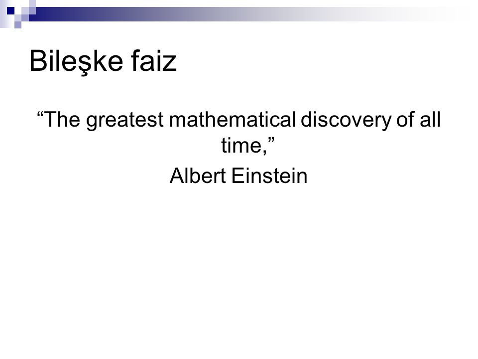 The greatest mathematical discovery of all time, Albert Einstein