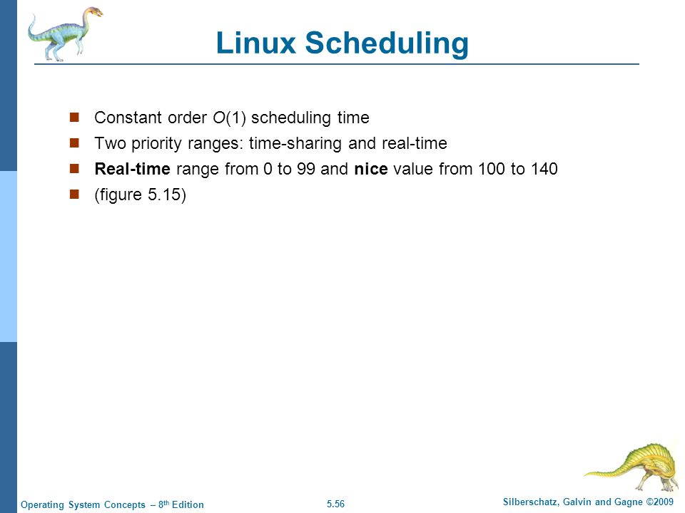 Linux Scheduling Constant order O(1) scheduling time