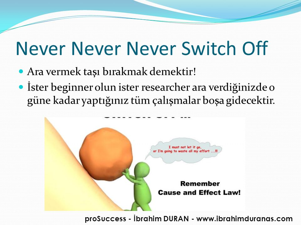 Never Never Never Switch Off