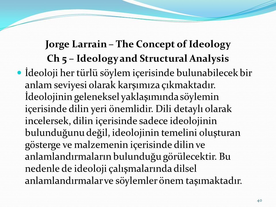 Jorge Larrain – The Concept of Ideology