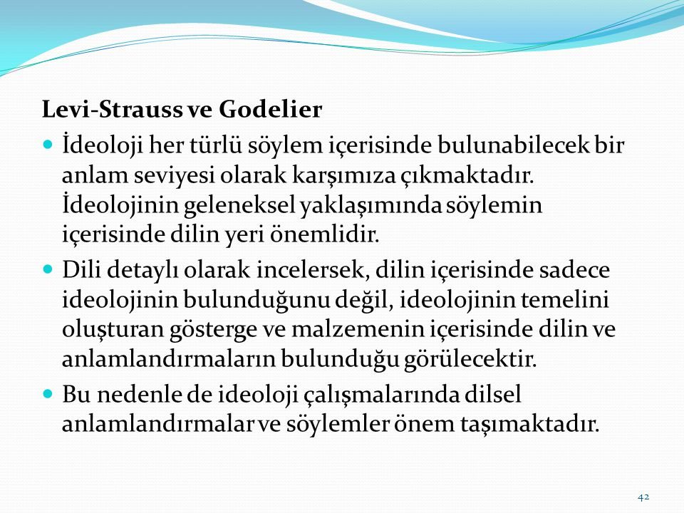 Levi-Strauss ve Godelier