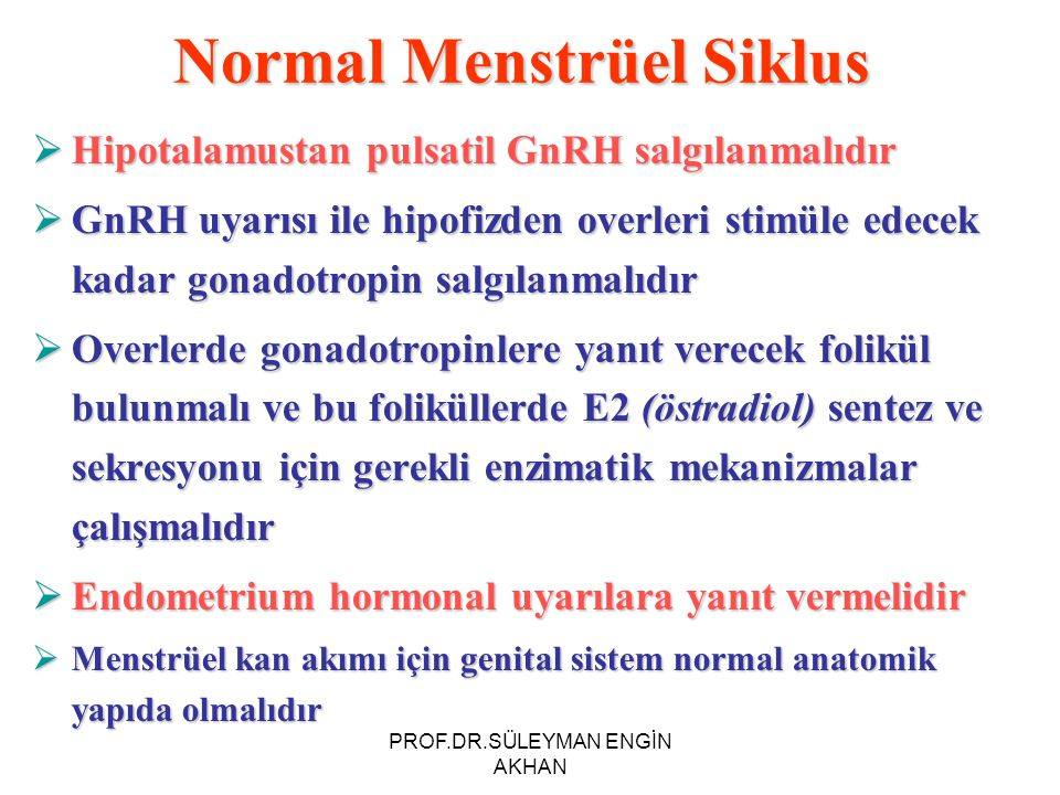 Normal Menstrüel Siklus