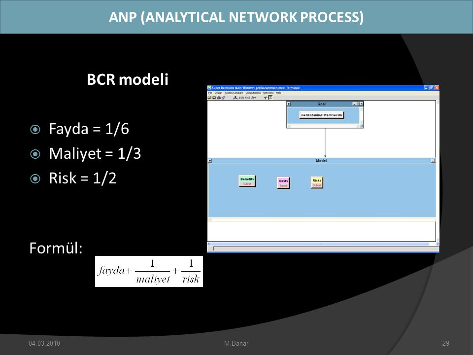 ANP (ANALYTICAL NETWORK PROCESS)