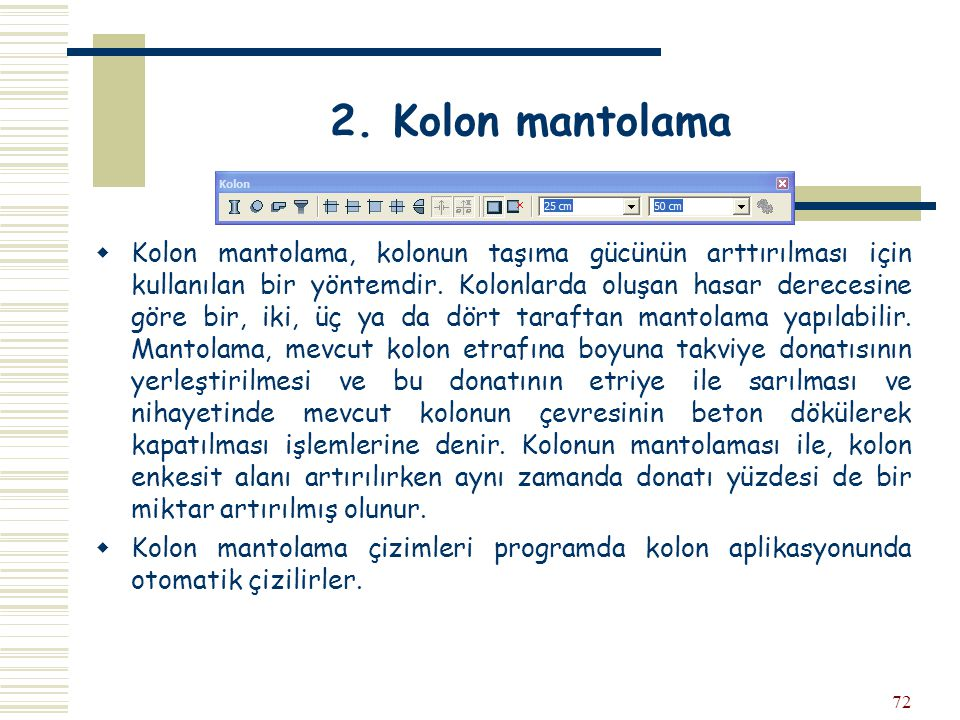 2. Kolon mantolama