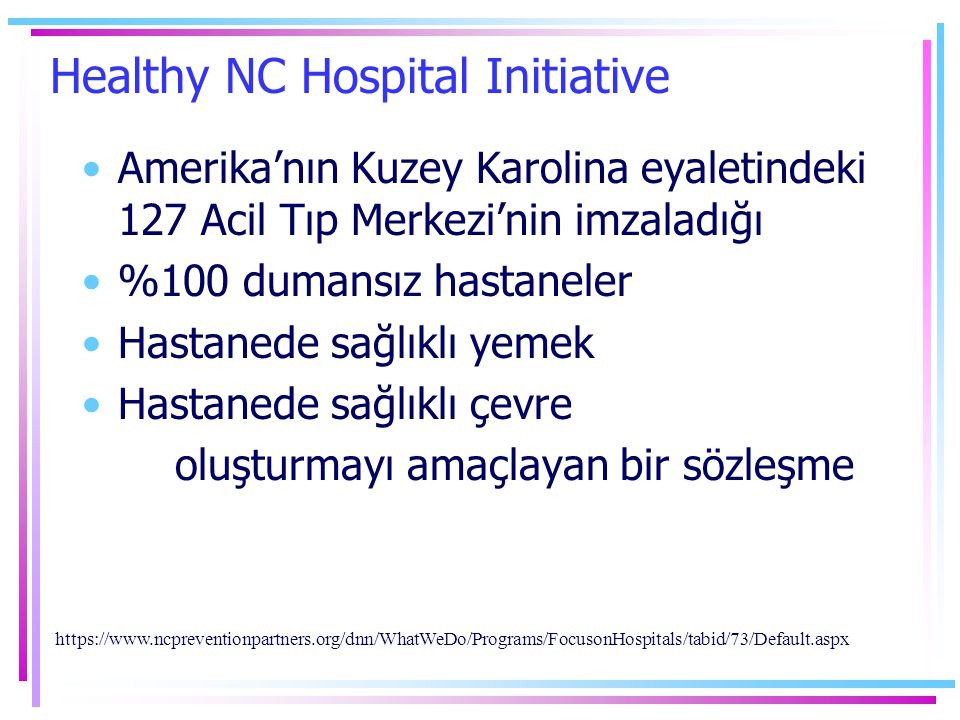 Healthy NC Hospital Initiative