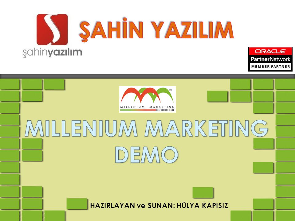 MILLENIUM MARKETING DEMO