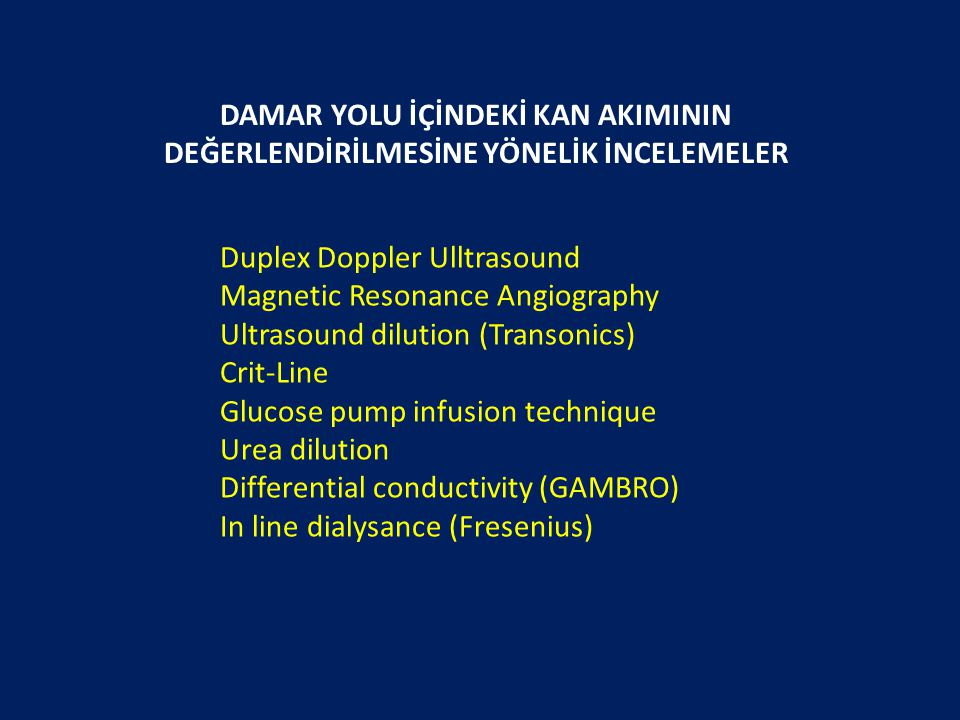 Duplex Doppler Ulltrasound Magnetic Resonance Angiography