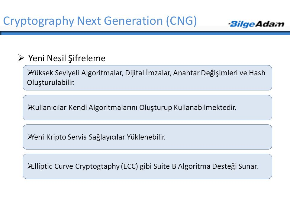Cryptography Next Generation (CNG)