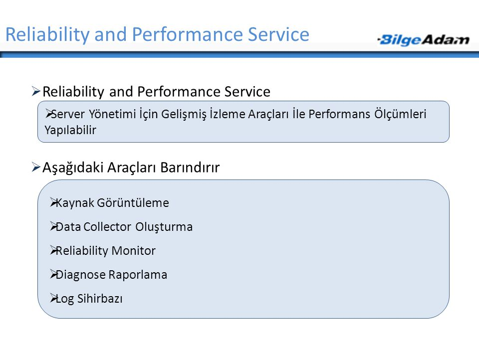 Reliability and Performance Service