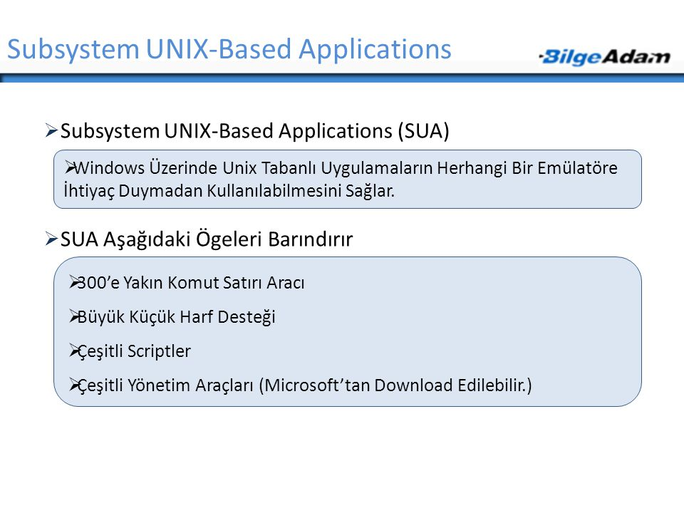 Subsystem UNIX-Based Applications