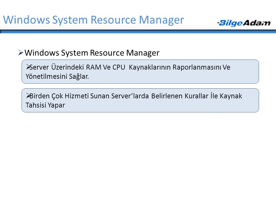 Windows System Resource Manager