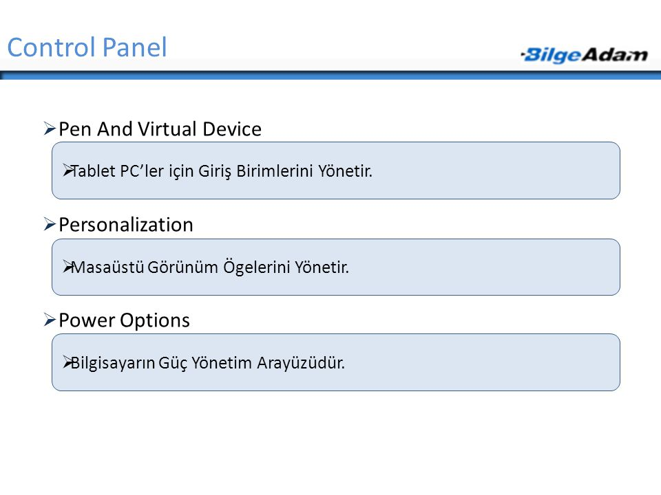 Control Panel Pen And Virtual Device Personalization Power Options