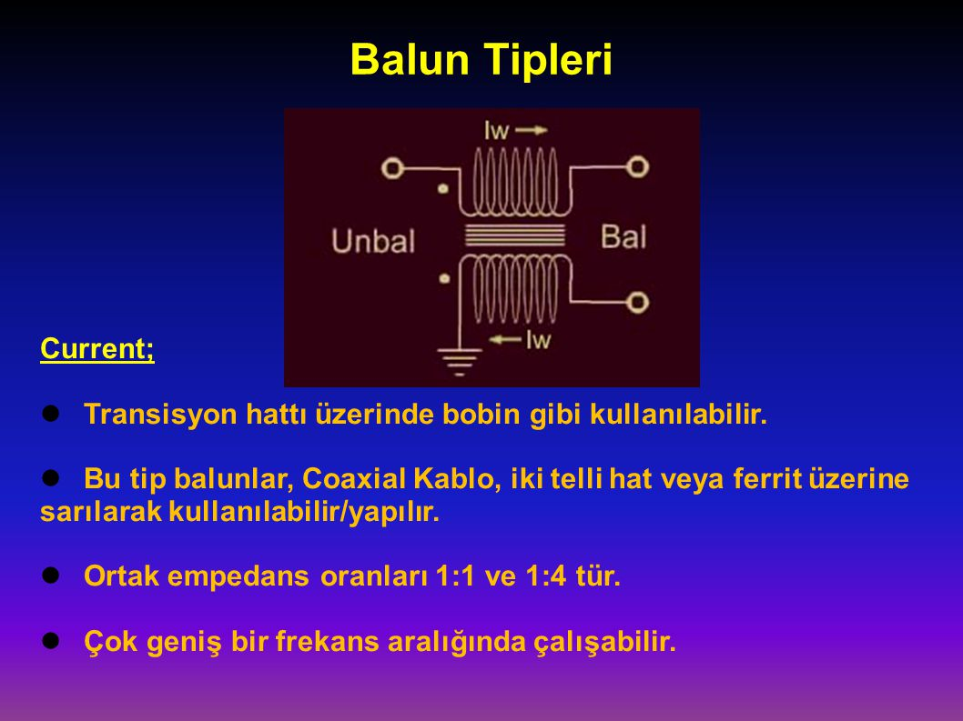 Balun Tipleri Current;