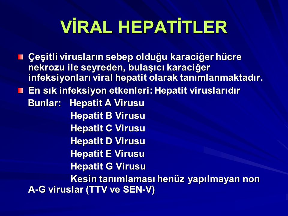 VİRAL HEPATİTLER