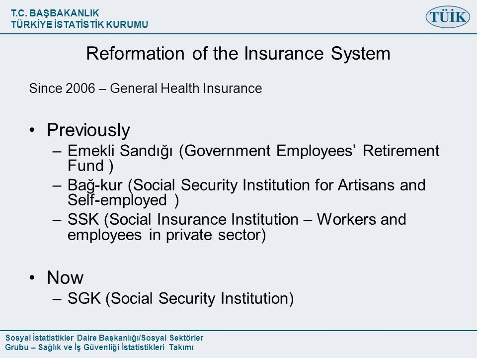 Reformation of the Insurance System
