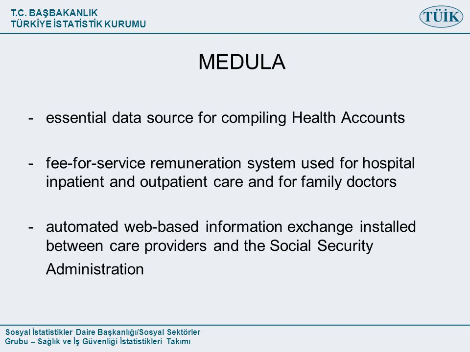 MEDULA essential data source for compiling Health Accounts